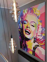 Klantfoto: Marilyn Monroe van David Potter, op canvas