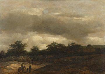 Dünenlandschaft mit Straße und Kirche, Guillaume du Bois