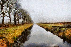 Beautiful Landscape in Drente Holland