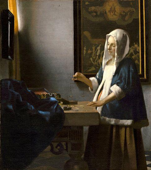de vrouw met de weegschaal, Johannes Vermeer
