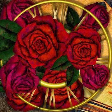Tijdreizen - tijd voor rode rozen van Patricia Piotrak