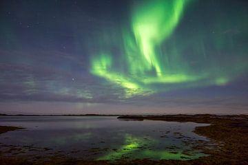 Noorderlicht vanaf de Lofoten eilanden, Noorwegen van