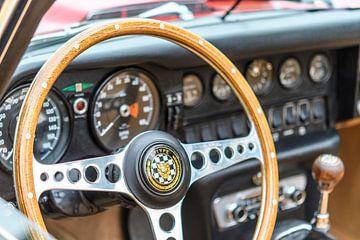 Interieur van een Jaguar E-Type Roadster van Sjoerd van der Wal
