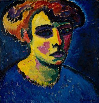 Alexej von Jawlensky~Der Kopf einer Frau