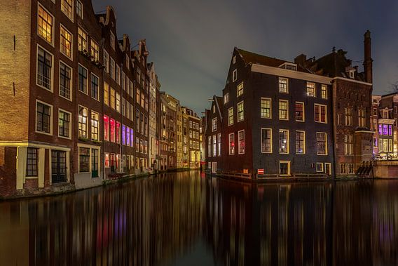 Oudezijds Voorburgwal Amsterdam van Michael van der Burg