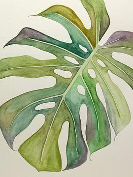 De bonte Philodendron Monstera van Natalie Bruns