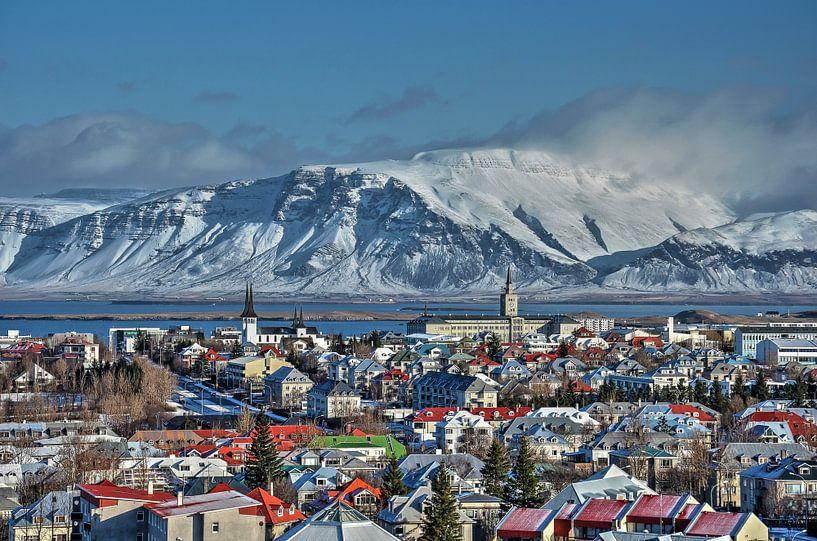 Panorama Reykjavik van Frans Blok