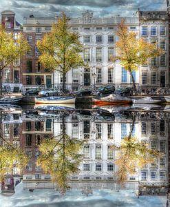 Wasserspiegelung, Amsterdamer Wassergraben, Niederlande