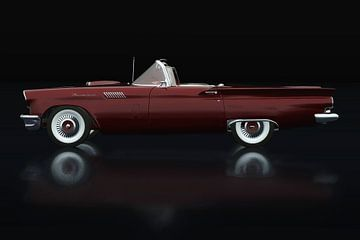 Ford Thunderbird Cabriolet Zijaanzicht van Jan Keteleer
