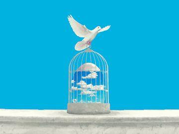 Der blaue Käfig von Catherine Fortin