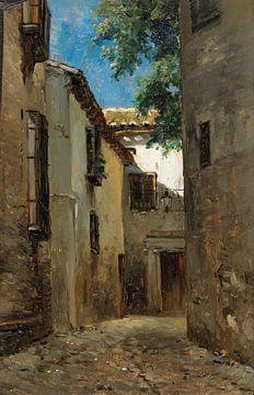 Carlos de Haes-Straat Blick auf die Altstadt, Antike Landschaft