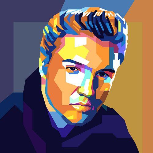 Elvis Presley Pop Art Schilderij van Kunst Company