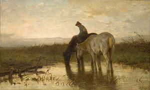 Drinkende paarden, Anton Mauve