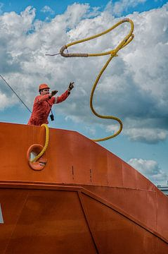 Werkzaamheden in Rotterdamse haven van