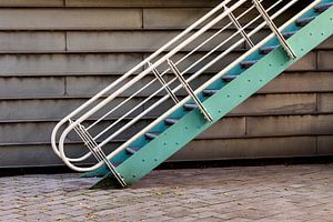 Treppe im Hinterhof