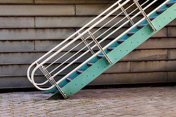 Treppe im Hinterhof von