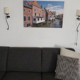 Klantfoto: Hangende Keukens in Appingedam van Patrick Verhoef, op canvas