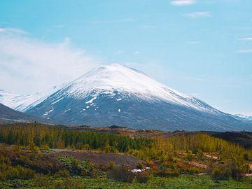 Montagne enneigée d'Islande sur Marjon Boerman