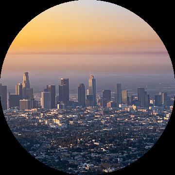 Los Angeles Skyline van Remco Piet