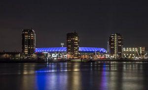 Feyenoord Rotterdam stadium 'De Kuip' at night