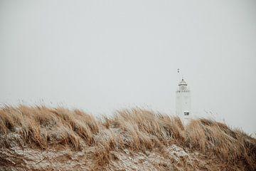 Sneeuwduinen en vuurtoren van Yana Spiridonova