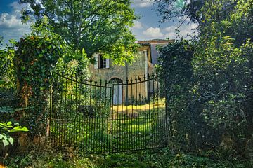 Zaun am Chateau in Midi-Pyrenees Frankreich