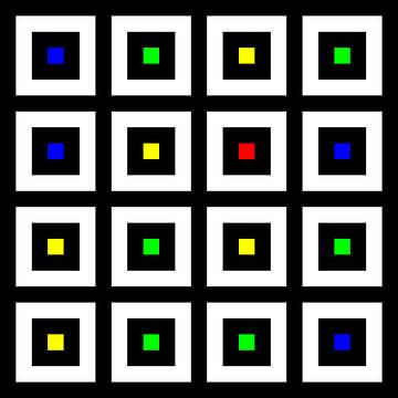 Nested | Center | 04x04 | N=02 | Random #02 | RGBY van Gerhard Haberern