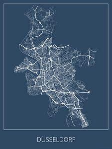 Düsseldorf, blau von Geodat