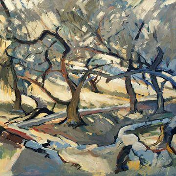 In de olijvengaard (vierkant) van Nop Briex