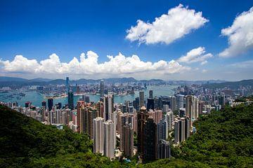 Schöne Aussicht auf Hongkong an einem klaren Tag von Jeffrey Schaefer