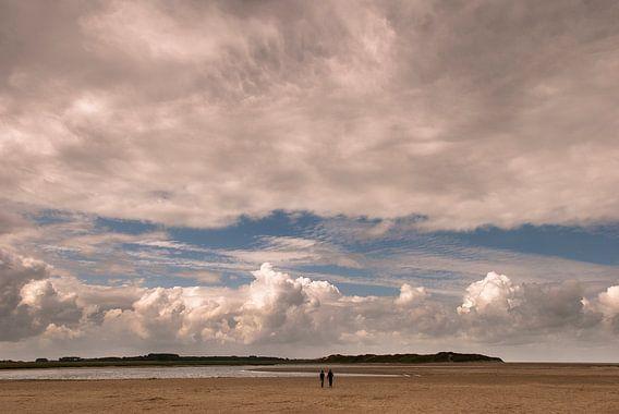 Wolkenfront over Het Zwin van Edwin van Amstel