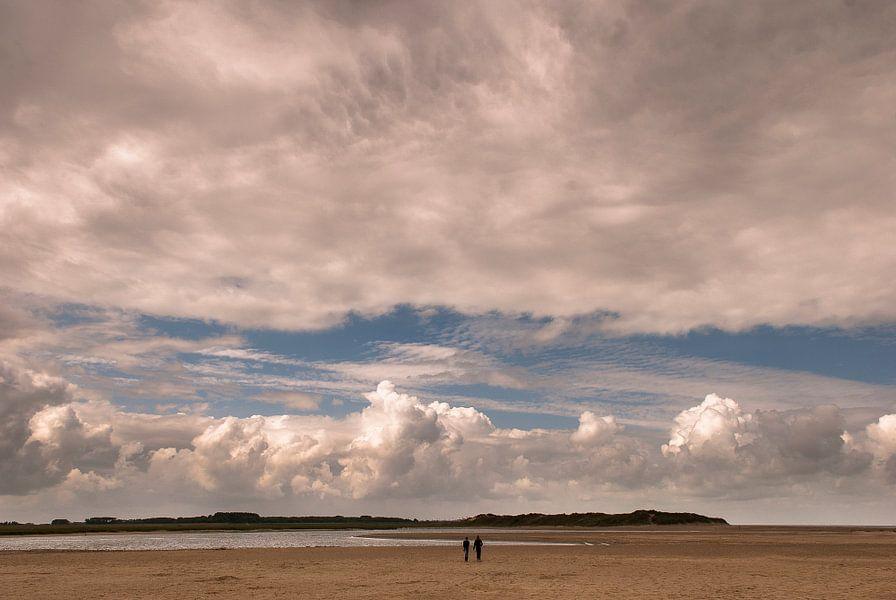 Wolkenfront over Het Zwin