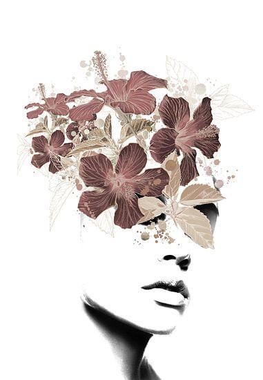 Flower lady II van Dreamy Faces
