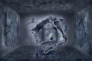 Das Welt Ei im surrealistischen Raum