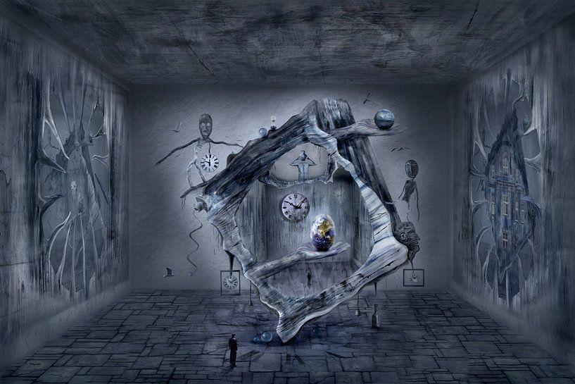 L'œuf du monde dans l'espace surréaliste sur Stefan teddynash