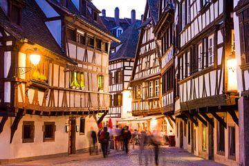 La Petite France in Straßburg am Abend von Werner Dieterich
