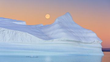 Sunset Hall Bredning, Scoresbysund, Groenland sur Henk Meijer Photography