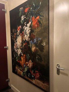 Kundenfoto: Blumenstrauß in einer Urne - Jan van Huysum