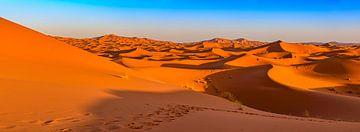 Sanddünen in der Sahara, Marokko von Rietje Bulthuis
