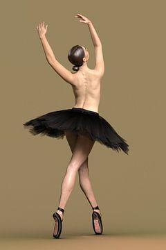 Ballerina auf der Spitze von Arjen Roos
