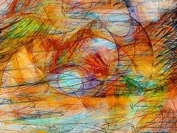 blauwe energie van Claudia Gründler