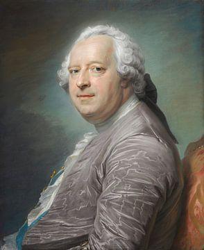 Porträt von Jean-Charles Garnier, Seigneur d'Isle, Maurice Quentin de La Tour