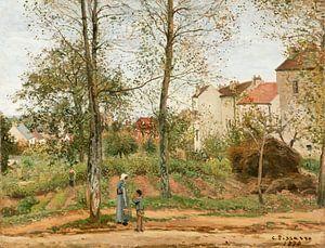 Häuser in Bougival (Herbst), Camille Pissarro