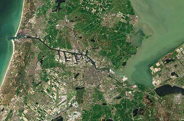 Image satellite d'Amsterdam et de ses environs, Pays-Bas sur Wigger Tims