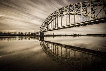Spoorbrug over de Rijn bij Oosterbeek van Michiel van Druten