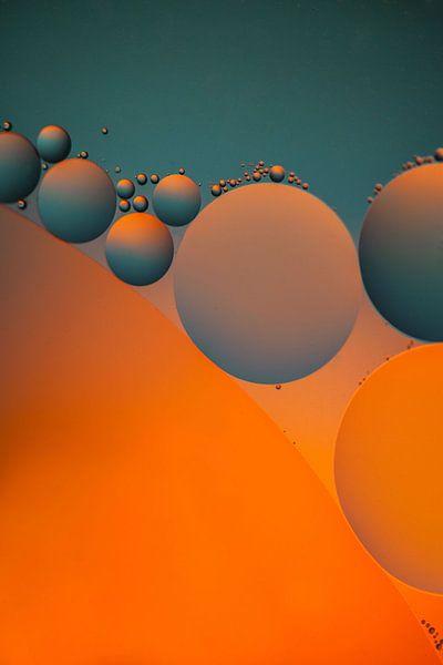 Water en olie 1 van Cees Petter