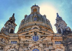 De Frauenkirche in Dresden, Duitsland. van
