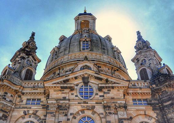 De Frauenkirche in Dresden, Duitsland. van Edward Boer