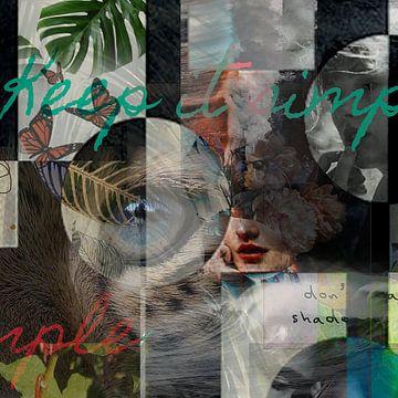 Fantasie collage van Sita Conijn