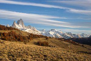 Ochtendlicht op berg Fitz Roy in Argentinië.  van